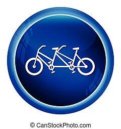 型, タンデム, 自転車, アイコン