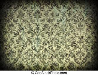 型, ダマスク織, 壁紙