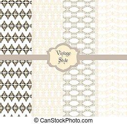 型, ダマスク織, 装飾, パターン