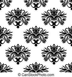 型, ダマスク織, seamless, パターン
