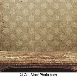 型, テーブル, 上に, ∥, 背景, の, ピンク, ポルカドット, patten