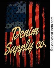 型, デニム, vectors, tシャツ, 活版印刷, グラフィックス, アメリカ