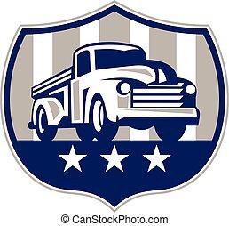 型, トラックを選びなさい, usaフラグ, 頂上, レトロ