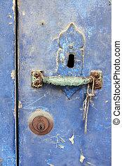 型, ドア, 穴, キー