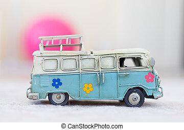 型, バス, おもちゃ