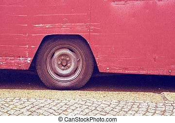 型, バス, 車輪