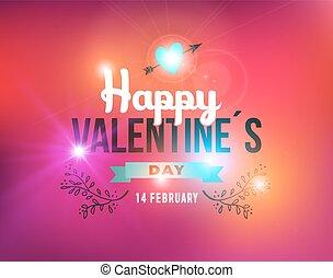 型, バレンタイン, ラベル, 日, カード, 幸せ