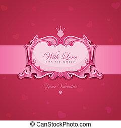 型, バレンタイン, 挨拶, card.