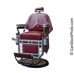 型, バーバー椅子