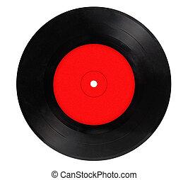 型, ビニールレコード, 隔離された, 白, 背景