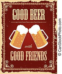 型, ビール, ポスター