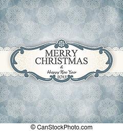 型, フレーム, クリスマス