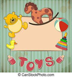 型, フレーム, デザイン, おもちゃ