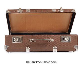 型, ブラウン, スーツケース