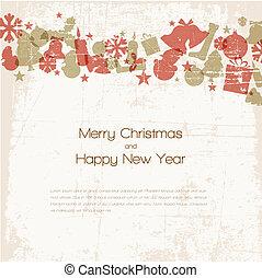 型, ベクトル, クリスマスカード