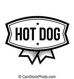 型, ホットドッグ, ロゴ