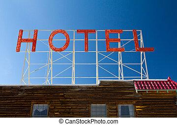 型, ホテル, 古い, 手紙, 印