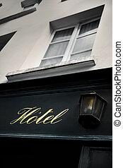 型, ホテル, 古い, 通り, パリ