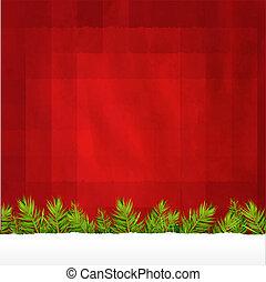 型, ラベル, クリスマス, 背景, 赤