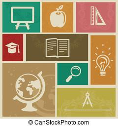 型, ラベル, セット, 教育