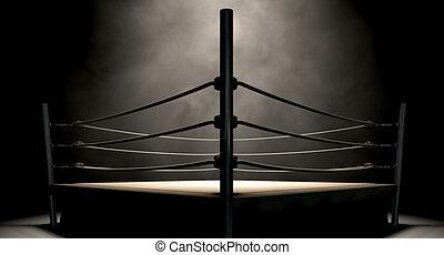 型, リング, ボクシング, クラシック