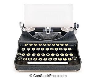 型, レトロ, タイプライター