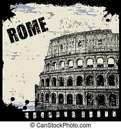 型, ローマ, 光景