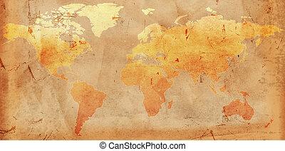 型, 世界地図