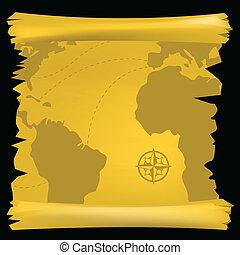 型, 世界, 地図