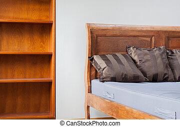 型, 中, 家具, 寝室