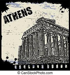 型, 光景, の, アテネ