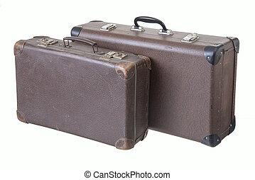 型, 別, 古い, 2, スーツケース