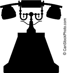 型, 古い電話