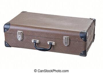 型, 古い, ブラウン, スーツケース