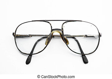 型, 古い, メガネ