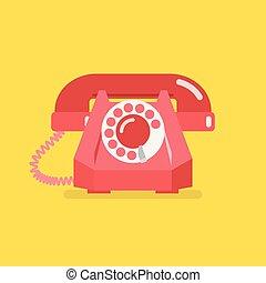 型, 古い, レトロ, 電話