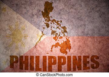 型, 地図, フィリピン
