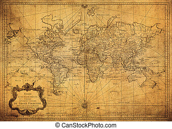 型, 地図, 世界, 1778