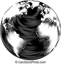 型, 地球, 世界