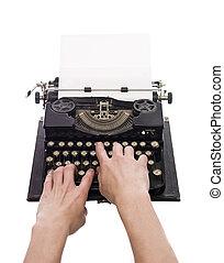型, 執筆, タイプライター