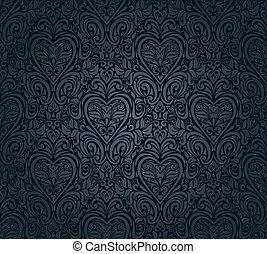 型, 壁紙, 黒, seamless