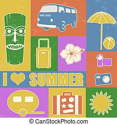型, 夏, ポスター
