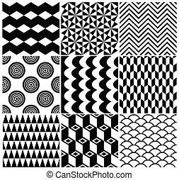型, 幾何学的, セット, 背景 パターン