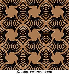 型, 幾何学的, deco, 芸術, パターン