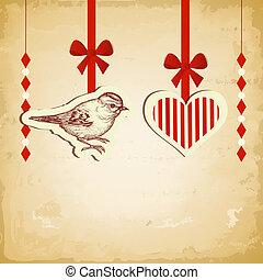 型, 愛, カード