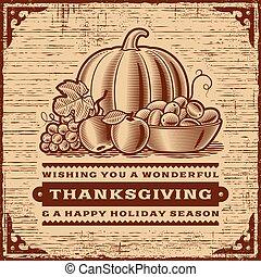 型, 感謝祭, カード, ブラウン