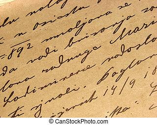 型, 手書き, 1892