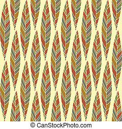型, 抽象的, seamless, 秋, パターン, 葉