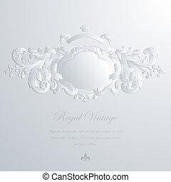&, 型, 招待, 挨拶, 優雅である, 結婚式, template., カード