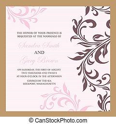 型, 招待, 結婚式, 花
